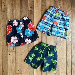 Childrens Place Toddler Boy Lot Of 3 Swimsuits O14